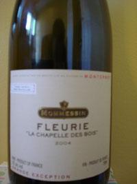 """2004 Mommessin Fleurie """"La Chapelle Des Bois"""""""