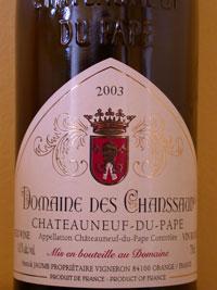 2003 Domaine des Chanssaud - Chateauneuf-du-Pape