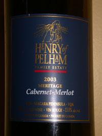 2003 Henry of Pelham Cabernet-Merlot