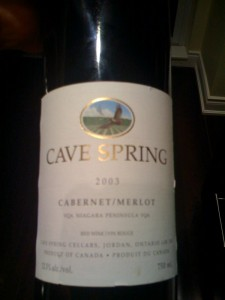 2003 Cave Springs Cabernet Merlot