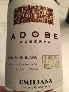 2013 Emiliana Adobe Reserva Sauvignon Blanc
